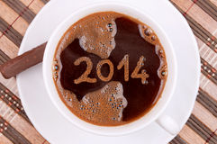 Coffee New year 2014 Royalty Free Stock Photography