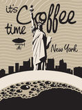 Coffee new york Stock Image