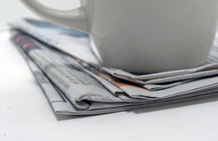 Coffee news Royalty Free Stock Images