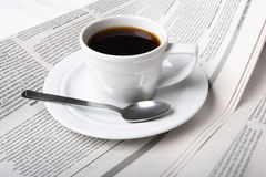 Coffee, news Stock Image
