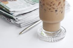 Coffee and news Royalty Free Stock Photography