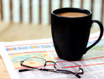 Coffee and Newspaper Royalty Free Stock Photo