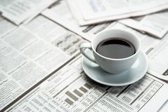 Coffee newspaper , business Royalty Free Stock Photography