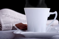 Coffee and newspapers Royalty Free Stock Photo