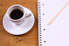 Coffee and note book Royalty Free Stock Photo