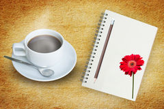 Coffee And Note Book Royalty Free Stock Image
