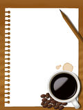 Coffee note2 Royalty Free Stock Photo