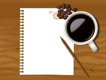 Coffee note Stock Photos