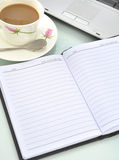 Coffee and notebook Royalty Free Stock Photos