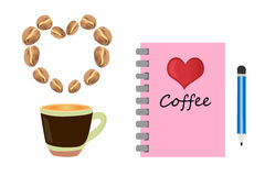 Coffee and notebook Royalty Free Stock Photography