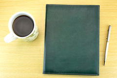 Coffee, notebook and pen Royalty Free Stock Photography