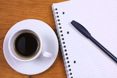 Coffee and notepad Royalty Free Stock Images