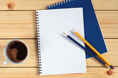Coffee and notepad Royalty Free Stock Photography
