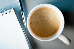 Coffee and notes Royalty Free Stock Images