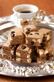 Coffee nougat. Nougat with coffee bean,nut and chocolate Stock Photo