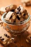 Coffee nougat Stock Photos