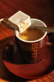 Coffee and nougat Royalty Free Stock Images