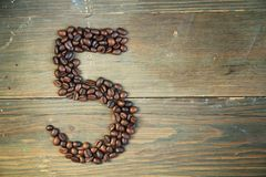 Coffee number five Royalty Free Stock Photo