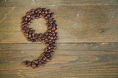 Coffee number nine Stock Images