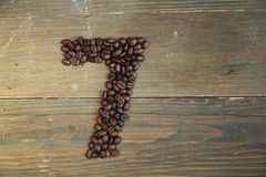 Coffee number seven stock image