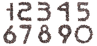 Coffee numbers Royalty Free Stock Photos