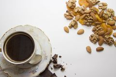 Coffee with nuts Stock Photo