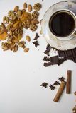 Coffee with nuts Stock Images