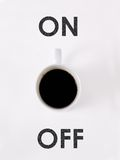 Coffee on/off Stock Image