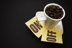 Coffee on/off Royalty Free Stock Photos