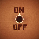 Coffee ON/OFF Royalty Free Stock Images