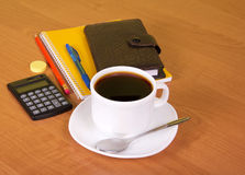 Coffee in office table Stock Photo