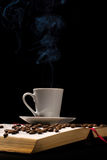 Coffee with old book Royalty Free Stock Images