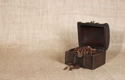 Coffee in an old chest - RAW format Royalty Free Stock Photography