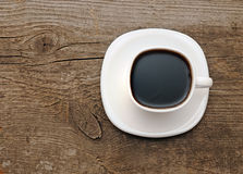 Coffee on old table Stock Photography
