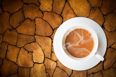 Coffee on old wood Stock Photo