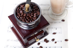 Coffee On Sheet Music Stock Image