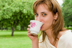 Coffee On The Nature Royalty Free Stock Photography