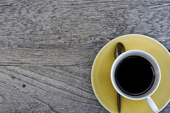 Coffee On Wood Stock Image