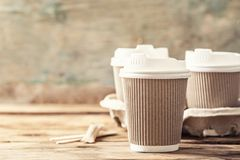 Free Coffee Or Tea In A Paper Cup Stock Images - 164896594