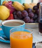 Coffee Orange Breakfast Means Sweet Cafeteria And Cafe Royalty Free Stock Images