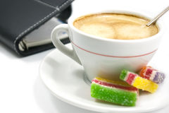 Coffee and organizer Stock Photos