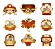 Coffee ornamental labels set. Royalty Free Stock Photo