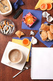 Coffee and other joys. Coffee table and other joys Stock Images
