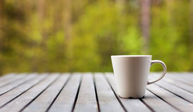 Coffee outdoors Royalty Free Stock Photo