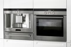 Coffee and oven Stock Image