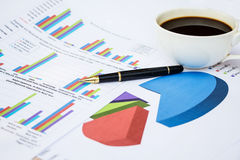 financial graph documents Royalty Free Stock Photo