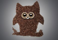 Coffee owl Stock Images