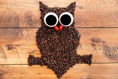 Coffee owl. Royalty Free Stock Photo