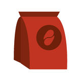 Coffee pack paper image. Illustration eps 10 royalty free stock photography