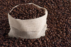 Coffee pack2.jpg. Bag and coffee beans Royalty Free Stock Photography